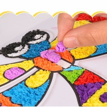 Creative Crumpled Paper Sticker Painting Kid DIY Craft Learning Toy Baby Child Educational Toys Playthings