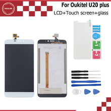 For Oukitel U20 Plus LCD Display+Touch Screen  Assembly Repair Part 5.5 inchLcd Digitizer Glass Panel+Tools+Adhesive+glass