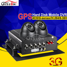 3G Hard Disk Network Mobile Video Recorder With 500GB Real Time Surveillance GPS Track PC/Phone Monitor Mdvr Car Camera Kits(China)