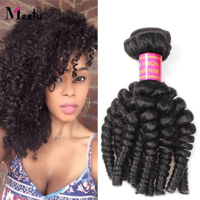 7A Brazilian Virgin Bouncy Curly Hair 100g Natural Color Brazilian Bouncy Curly Virgin Human Hair Weaves Bundles 14-28 Length<br><br>Aliexpress
