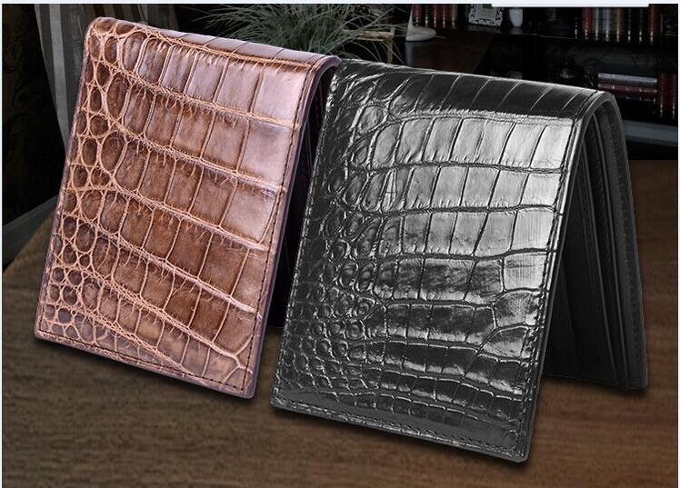 100% genuine crocodile leather skin  credit card holder alligator skin wallets and purse fashion wallet for men<br><br>Aliexpress