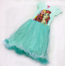 Newest girls cartoon dress summer party dress Baby Tutu dress Ariel Princess Dress Costume