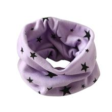 Autumn Winter boy girl Scarf five point star shawl baby Scarves muffler Cotton O Ring infant kid neckerchief 40*37cm 7 colours