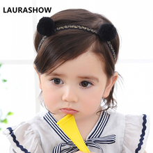 LAURASHOW 5Colors New Fashion Hot Children Kids Baby Girls Big Ribbon Bowknot Headband Headwear Hair Band Head Piece Accessories