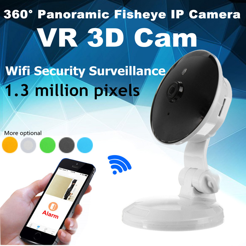 5 Color 360 degree Panoramic Fisheye IP Camera HD 960P Wireless Wifi Home Security Surveillance Camera VR 3D Cam Baby Montors<br>
