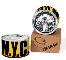 Free Shipping To USA 2pcs/lot Packed New York N.Y.C.City Kitchen Fridge Magnet Aluminum Wall Clocks,Metal Can Table Clocks