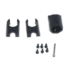 JMT Group/ Black w/ Screws 16MM Carbon Fiber Tube Folding Mounting Base for DIY RC Multicopter Folding Quadcopter(China)