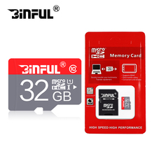 BInful Red 32GB micro sd card high speed Class 10 memory card 4GB 8GB 16GB 32 GB 64GB memory disk TF card microsd free shipping(China)