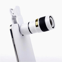 Buy Universal Clip 8X Zoom Mobile Phone Telescope Lens Telephoto External Smartphone Camera Lens iPhone X 8 7 6s Sumsung Huawei for $4.90 in AliExpress store