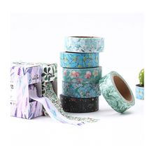 1PC Chinese Retro Style Flowers Washi Tape Scotch DIY Scrapbooking Sticker Label Masking Craft Tape 15MM*7M Vintage