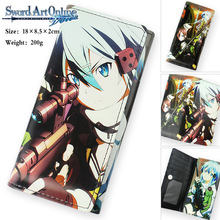 Colorful Anime Sword Art Online long style PU wallet printed w/ Asada shino