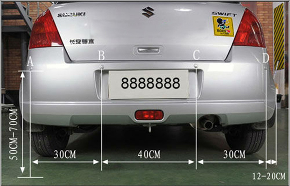 8 Rear Front View Car Parking Sensor with LED Display (3)