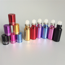Free Shipping 50pcs/lot 5ml UV Glass Perfume Bottles Essential Oil Glass Bottle Empty Rollon Glass Bottle Cosmetic Package Vials