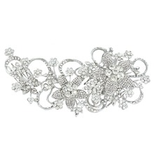2015 BELLA Bridal  Flower Hair Comb Gem Vintage Inspired Clear Austrian Crystal Wedding Hair Pieces For Bride & Bridesmaids