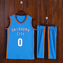 Adsmoney Round Neck Blue Basketball Suit Team Name Logo Pattern Custom American star Throwback Sleeveless Basketball Uniforms(China)