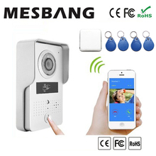 2017 wifi video door intercom  with small doorbell can hear the ring from home or phone with ID openning door card