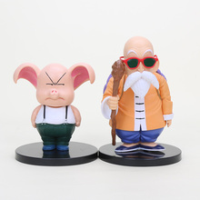 2pcs/lot DBZ figure Dragon Ball Z vol.2 Master Roshi and Oolong PVC Action Figure Model Toy 11cm / 15cm