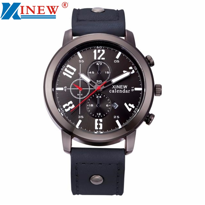 Luxury Brand Military Watch Men Quartz Analog Clock Leather Canvas Strap Clock Man Sports Watches Army Relogios Masculino 161202