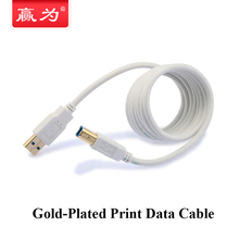 Print Cable Gold Plated USB 2.0 Extension Print Cable USB A Male to USB B Male Extended USB Cable for Printer HDD Gadgets