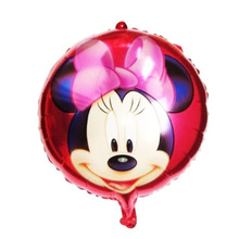 10pcs/lot balao minnie party ballons 18inch mylar minnie balloon for red minnie mouse party supplies child birthday