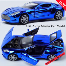 1:32 Toy Car Aston Martin Metal Alloy Diecast Car Model Miniature Scale Model Sound and Light Electric Car Toys For Children(China)