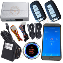 auto security alarm system car  gsm and gps smart phone control car system long distance remote start stop engine