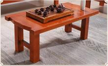 Antique Low Table Kongfu Tea Table Wooden Rectangle 130cm Asian Furniture Traditional Living Room Solid Wood Table Legs Foldable(China)