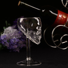 New Arrival 75ML High Temperature Resistance Skull Glass Cup Transparent Whiskey Drinking beer glass, red wine glass(China)
