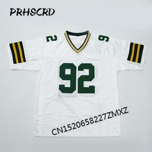 Retro star #92 Reggie White Embroidered Throwback Football Jersey(China)