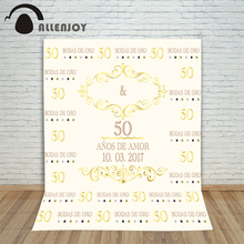 Allenjoy photography backdrops Noble gold ivory white backdrop anniversary custom birthday Photocall for weddings backgrounds