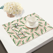 Mix 4 Style Table Napkins Coral Tree Printed Linen Cloth Dinner Napkins Serviette de Table Coton Wholesale Tea Towels 2017
