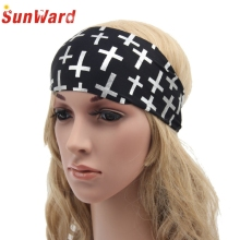SunWard Good Deal  Bandana 2017 Newest Wide Soft Boho Headband Womens Hair Accessories White Black Headwrap Gift 1PC