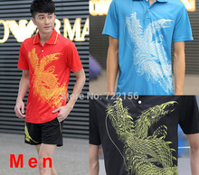 CHINA Dragon Men's Table Tennis Clothes sports Uniforms ,  table tennis shirts Men , Table tennis Jerseys L36112