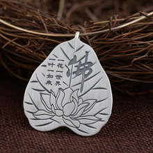 FNJ 925 Silver Lotus Pendant Buddha Flat 100% Pure S925 Solid Thai Silver Pendants for Women Men Jewelry Making(China)