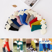 Kids Socks Soft Toddler Knee High Socks New Angel Wings Leg Warme Spring Autumn Cotton with Wings for Baby Boy Girls for 1 - 10T