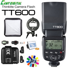Buy Godox TT600 GN60 HSS 1/8000s Speedlite 2.4G Wireless X System+X1T-C/X1T-N+Godox S-Type Brcaket+SoftBox Kit Canon/Nikon for $148.94 in AliExpress store