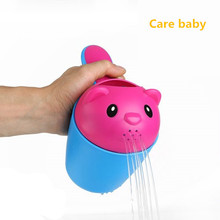 2017 Time-limited New Arrival Plastic Baby Bath Pad Shower Spoon Dipper Child Shampoo Cup(China)