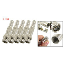 Promotion! 5pcs Solder Less Twist Spring BNC Connector Jack for Coaxial RG59 CCTV Camera(China)