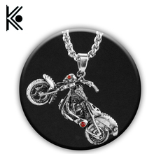 New design skull Ghost rider Necklace Titanium Necklace for Men Jewelry With Chain Soul Chariot Pendant  ghost rider jewelry