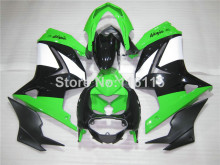 Fit for Kawasaki Ninja fairings 250r 2008-2013 2014 injection molding ZX250 08-14 green black motorcycle fairing kit EX250 NZ9