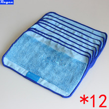 Microfiber 12-Pack Pro-Clean Mopping Cloths for Braava Floor Mopping Robot irobot Braava Minit 4200 5200 5200C 380 380t