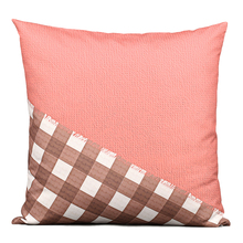 High Quality 40cm 45cm 50cm 60cm Decorative Cushion Cover Blue Red Green grid Throw Pillows Covers Decorative Pillows