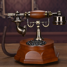 Solid wood Antique telephone vintage old fashioned phone/Blue Screen Hands-free backlit version+Caller ID(China)