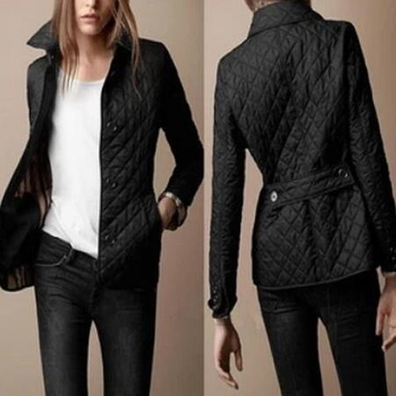 2017 New Fashion Women Winter Jacket and coat down Autumn Coat Slim Outerwear British Style Plaid Quilting Padded Parkas BrandedОдежда и ак�е��уары<br><br><br>Aliexpress