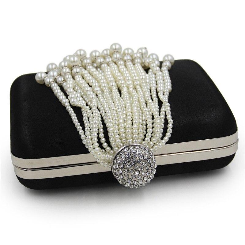 Brand Design Women Clutch With Beaded Tassel Evening Bas Diamonds Handmade Vintage Wedding Party Evening Bags<br>