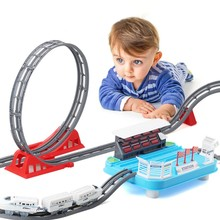 Kids Chirldren Magic Toy track Car Excavator Railway Parking Construction Cars Truck Toys For Boys Kids Gift Car Model Vehicle(China)