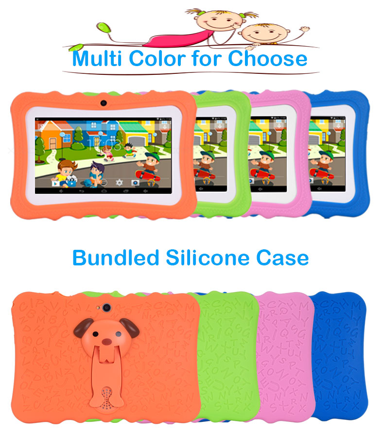 XGODY I711 7 Inch Children Tablet Android 4.4 AllWinner A33 Quad Core 512MB RAM 8GB ROM 0.3MP Dual Cameras OTG Tablet PC Babypad
