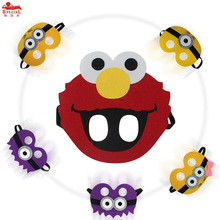 Special Boys&Girls Elmo mask Cartoon Cosplay Child Face Mask girl dress brand Minions costume character birthday party masks