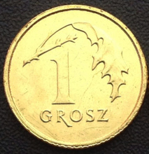 15.5mm Poland 1 Grosz Coin European Union