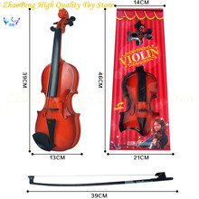 Children Beginners Instrument Adjust String Simulation Violin Musical Toy with Retail Box T-06(China)